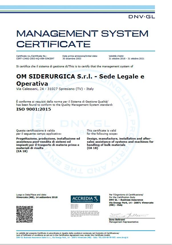 CERTIFICATE_CERT-13482-2003-AQ-VEN-SINCERT_OM_SIDERURGICA_SRL_181018_1-597N3C1_CC